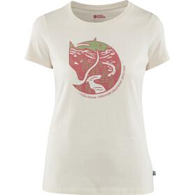 Fjällräven Arctic Fox Print Camiseta Mujer, blanco